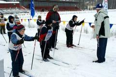 滑雪竞争 库存照片