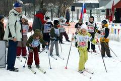 滑雪竞争 免版税库存照片