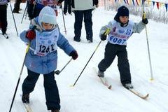 滑雪竞争 图库摄影