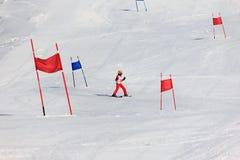 滑雪竞赛的女孩 库存图片