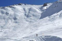 滑雪线索 免版税库存照片