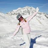 滑雪者妇女 图库摄影