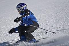 滑雪者年轻人 图库摄影