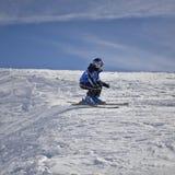 滑雪者年轻人 库存照片