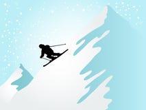 滑雪者 免版税图库摄影