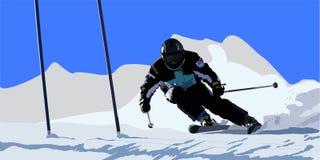 滑雪者 皇族释放例证