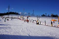 滑雪胜地巴尼亚在Bialka Tatrzanska波兰 图库摄影