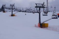 滑雪胜地巴尼亚在Bialka Tatrzanska波兰 库存图片
