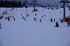 滑雪胜地巴尼亚在Bialka Tatrzanska波兰 免版税库存照片