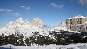 滑雪胜地用意大利语Alpes 免版税库存图片
