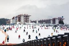 滑雪胜地的旅馆 免版税图库摄影