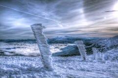 滑雪胜地Dragobrat在冬天 图库摄影