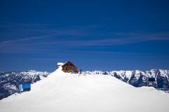 滑雪胜地fernie冬天 库存照片