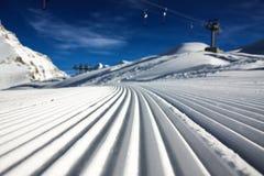 滑雪胜地kaprun 库存图片