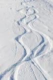 滑雪跟踪 免版税库存照片