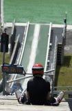 滑雪跳高者 库存图片