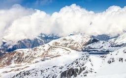 滑雪轨道在Ischgl 库存图片