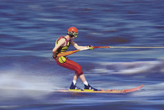 滑雪速度水 免版税库存图片