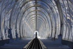 滑雪隧道 免版税图库摄影
