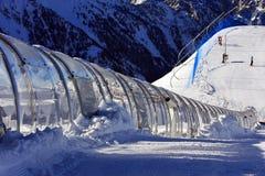 滑雪隧道 库存照片