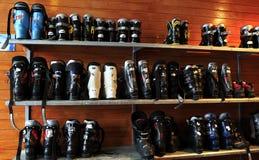 滑雪靴 库存图片