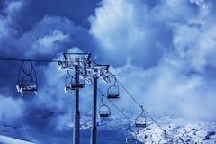 滑雪驾空滑车 库存图片