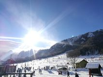滑雪 库存照片