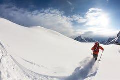 滑雪 图库摄影