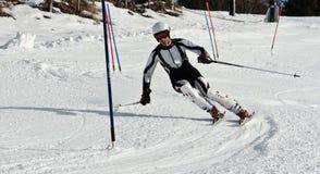 滑雪Compatition 库存图片