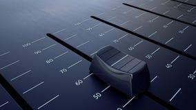 滑音量控制器 向量例证