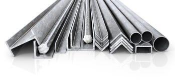 滚动的金属制品 钢外形和管 3d例证 皇族释放例证