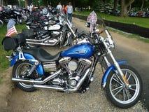 滚雷的摩托车 库存照片