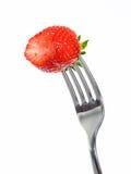 满嘴草莓 库存照片