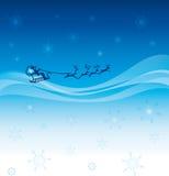 满天星斗他的圣诞老人天空的雪橇 免版税库存照片