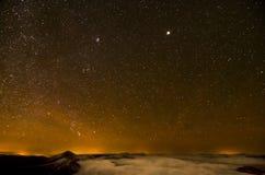 满天星斗的天空的北部 库存图片