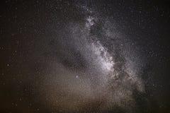 满天星斗的天空,银河 免版税库存图片