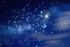 满天星斗的天空 库存照片