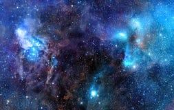 满天星斗背景深刻的外层空间 向量例证
