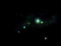 满天星斗背景的天空 向量例证