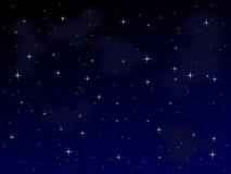 满天星斗1个的晚上 库存图片