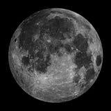 满月夜空星形 免版税库存照片
