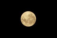 满月害羞在清楚的天空 免版税库存图片