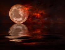 满月 向量例证