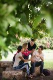 满足和准备测试的大学生 免版税库存照片