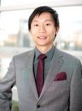满足的生意人汉语 库存照片