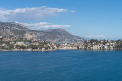 滨海自由城,法国海滨停泊处  库存照片