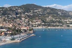 滨海自由城,法国海滨停泊处  免版税库存照片