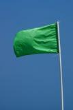 滩头识别旗绿色 库存照片