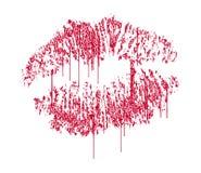 滴下的亲吻 免版税图库摄影