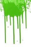 滴下的绿色油漆 免版税图库摄影